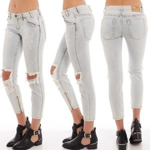One Teaspoon: Trashed Diamonde Freebird Jeans